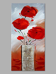 IARTS® Hand Painted Modern Abstract Swaying Pretty Flowers in the Vase on Canvas Stretched Frame Handmade Oil Painting For Home Decoration