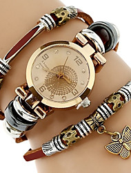 cheap -Women's Quartz Bracelet Watch Chinese Water Resistant / Water Proof / Creative PU Band Casual / Elegant / Fashion Brown