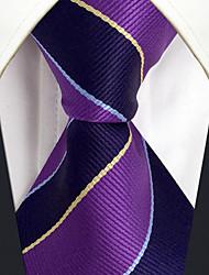 Masculino Vintage Festa Trabalho Casual Escritório/Negócio Alta qualidade Fashion Seda Todas as Estações Gravata,Listrada