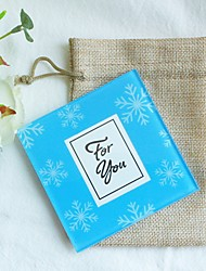 1pcs/bag Blue Snowflakes Glass Photo Coaster Beter Gifts® Summer Life Style