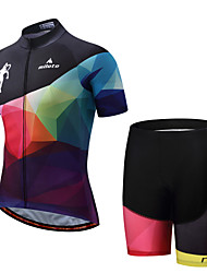 cheap -Miloto Cycling Jersey with Shorts Men's Men's Short Sleeves Bike Padded Shorts/Chamois Clothing Suits Cycling Polyester Spandex