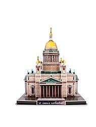 Недорогие -3D пазлы Пазлы Наборы для моделирования Знаменитое здание Церковь Архитектура Пенополистирол + вспененный полиуретан Русский Универсальные