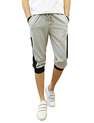 cheap -Men's Mid Rise Micro-elastic Skinny Harem Pants,Active Solid Organic Cotton Spring Summer