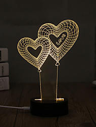 cheap -1 Set, Popular Home Acrylic 3D Night Light LED Table Lamp USB Mood Lamp Gifts, love
