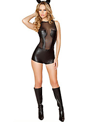 Elegant Catwoman Black PU Women's Halloween Costume