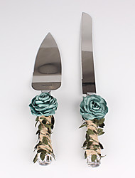 cheap -The Rose Flower Leaf Cake Servers Set Wedding Reception Chic & Modern