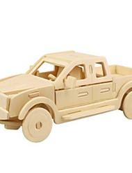 Недорогие -3D пазлы Пазлы Деревянные игрушки Автомобиль Своими руками деревянный Натуральное дерево Универсальные Игрушки Подарок
