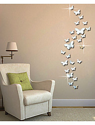 cheap -Abstract Animals 3D Wall Stickers Plane Wall Stickers 3D Wall Stickers Mirror Wall Stickers Decorative Wall Stickers 3D, Acrylic Home