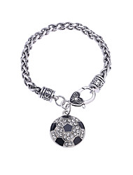 Women's Chain Bracelet Synthetic Diamond Natural Fashion Punk Magnetic Therapy Handmade DIY Gothic Rhinestones Alloy Circle Jewelry For
