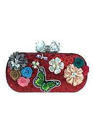 cheap -Women Bags Other Leather Type Evening Bag Appliques Pearl Detailing Floral Petals for Wedding Event/Party Casual Formal Office & Career