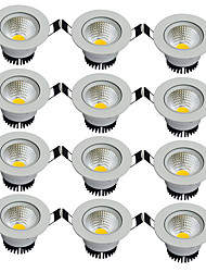 cheap -12pcs/lot Round Recessed LED Downlight AC 85-265V COB LED Spot Lamp 3W Angle Adjustable Ceiling Downlight for Home/Office