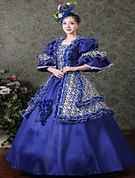 cheap -Victorian Rococo Ladies' One Piece Dress Cosplay Satin Long Sleeves Floor Length