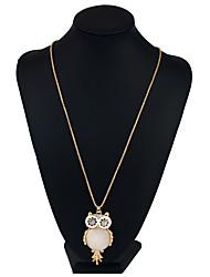 Недорогие -Жен. Геометрической формы Животный дизайн Хип-хоп Ожерелья с подвесками Ожерелья-цепочки Заявление ожерелья Хрусталь Металлический сплав