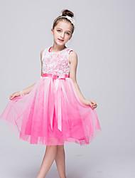 Vestido feminino de princesa vestido de flor com joelho - polister colar de jóias sem mangas por bflower
