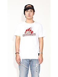 Herren Spezial Design Mit Mustern Einfach Street Schick Punk & Gothic Lässig/Alltäglich Athlässigkeit Ausgehen T-shirt,Rundhalsausschnitt