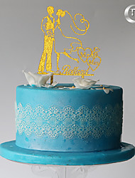Decoración de Pasteles Pareja Clásica Boda Ocasión especial Cumpleaños Con Bolsa PVC