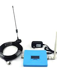 Mini display inteligente cdma 850mhz pcs 1900mhz repetidor de sinal de reforço de sinal de telefone celular com antena de chicote / antena