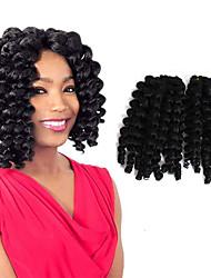 economico -Trecce Crochet pre-ciclo Trecce di capelli Bouncy Curl L'Avana Treccine a boccoli Riccio 8 pollici Cina Ramato Nero / Strawberry Blonde