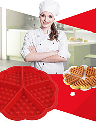 cheap -Silicone Waffle Mold Maker Pan Microwave Baking Cookie Cake Muffin Bakeware Cooking Tools Kitchen Accessories Supplies