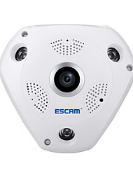 Escam® squalo qp180 hd 960p h.264 1.3mp 360 gradi panoramici fisheye telecamera a infrarossi supporto vr box