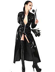 Escuro Couro Rainha Negra PU Sexy Uniform