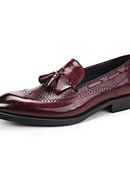 Недорогие -Для мужчин обувь Кожа Весна Осень Формальная обувь Свадебная обувь Назначение Свадьба Для вечеринки / ужина Черный Вино