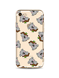 abordables -Funda Para Apple iPhone X iPhone 8 Plus Transparente Diseños Funda Trasera Azulejo Caricatura Animal Suave TPU para iPhone X iPhone 8