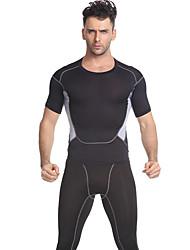 Tuta da ginnastica Manica corta Fitness, Running & Yoga Traspirante Set di vestiti per Yoga Esercizi di fitness Fitness Corsa Taglia
