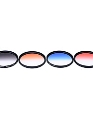 Andoer professional 67mm gnd graduated filter set gnd4 (0.6) gris bleu orange rouge gradué filtre de densité neutre