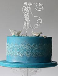 preiswerte -Tortenfiguren & Dekoration Klassisches Paar Kunststoff Hochzeit Party mit 1 PVC Tasche