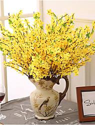 5 branche longue branche petite fleur jaune hiver jasmin décoration fleurs artificielles