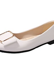 Damen Flache Schuhe Walking T-Riemen Komfort PU Herbst Normal Flacher Absatz Weiß Schwarz Grau 5 - 7 cm