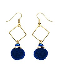 cheap -MISSING U Women's Drop Earrings Vintage Bohemian Gold Plated Glass Plush Fabric Alloy Jewelry For Gift Daily Casual Holiday Going out