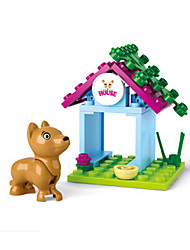 Pretend Play Building Blocks Block Minifigures Toys Dog Castle House Pieces Girls' Birthday Gift