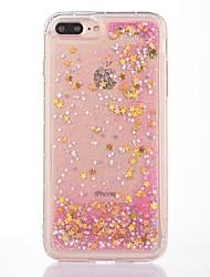 economico -Caso per il iphone 7 plus 7 caso di copertura di caso modello scorrevole liquido scintillante morbido tpu caso del telefono 6s più 6plus