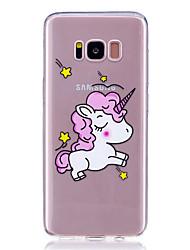 Caso per la galassia samsung s8 più s8 copertura posteriore modello trasparente unicorno animale morbido tpu s7 bordo s7