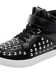 cheap -Boys' Shoes Leather Fall / Winter Comfort / Light Soles Sneakers Studded for White / Black