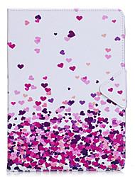 Caso para maçã ipad pro 10.5 ipad (2017) material de couro PU cor-de-rosa padrão de coração manga plana pro 9.7 '' air 2 air 2 3 4