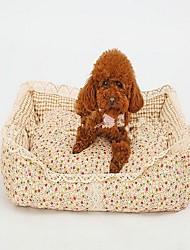 Dog Bed Pet Baskets Flower/Floral Warm Soft Washable