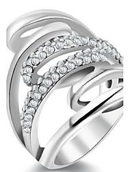 Dámské Široké prsteny Křišťál Přizpůsobeno Luxus Klasické Základní Sexy láska Módní Cute Style Elegantní Křišťál Slitina Kytky Šperky