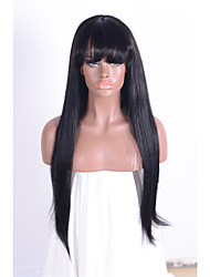Недорогие -Человеческие волосы без парики Натуральные волосы Классика Высокое качество Машинное плетение Парик Повседневные