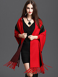 cheap -Knitwear Wedding Women's Wrap With Tassel(s) Capes Elegant Style