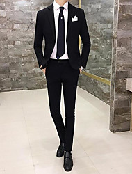 cheap -Men's Work Casual Spring Fall Suit