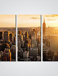 Недорогие -Отпечатки на холсте 3 панели холст Горизонтальная С картинкой Декор стены Украшение дома