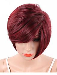 economico -Parrucche sintetiche Senza tappo Pantaloncini Anguria Rossa Parrucca naturale costumi parrucche