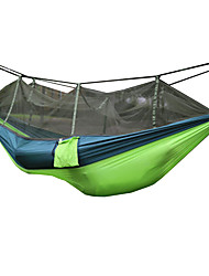 cheap -2 persons Camping Hammock with Mosquito Net Collapsible Anti-Mosquito Nylon for Camping Camping / Hiking / Caving Outdoor