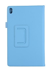 For Case Cover with Stand Flip Full Body Case Solid Color Soft PU Leather for Lenovo Tab4 Plus 8TB-8704F