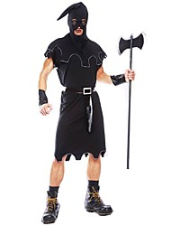 cheap -Grim Reaper Cosplay Costume Men's Women's Halloween Carnival Day of the Dead Festival / Holiday Halloween Costumes Black Vintage