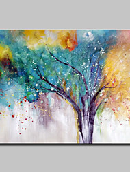 cheap -Large Size Hand Painted Abstract Tree Oil Painting On Canvas Modern Wall Art Picture For Home Decoration No Frame