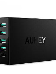 Caricabatteria USB 5 porte Stazione di caricatore dello scrittorio Con Quick Charge 3.0 Con i cavi del caricatore Presa US Adattatore di